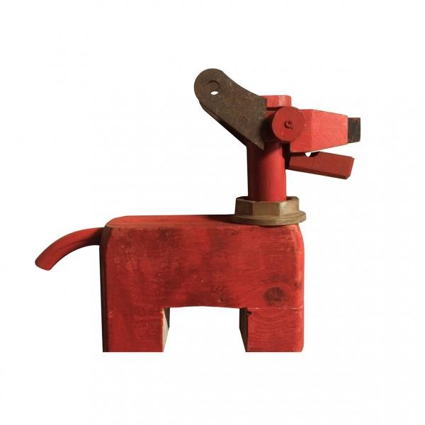 Perrito rojo. 37x32x9cm. 600€