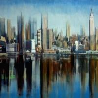Espejo en NY-Mixta s lienzo- 81 x 100 cm-2900€