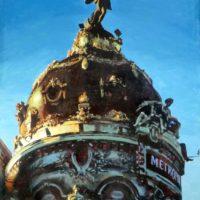 La cúpula y el ángel 110 x 150 cm. (Medium)