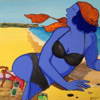 Caricias de Sal. Acrílico sobre lienzo. 120x120 cm. 3200