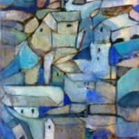 Toledo in blue acrilico sobre lienzo 1500