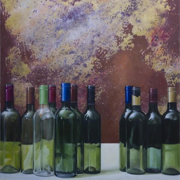 cuadro botellas
