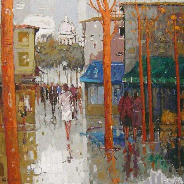 Monmartre(Paris), oleo s. lienzo, 100x81, 2400€