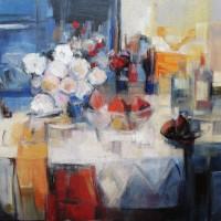 61 - Mesa con flores 146 x 114