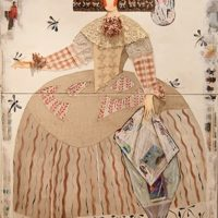 Mariana de Austria collage diptico 180x120 5445