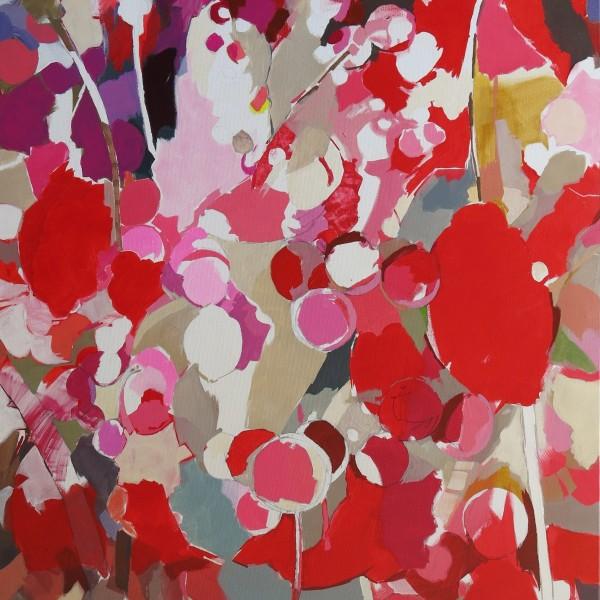 Frutos rojos, 100 x 81 cm,  acrílico sobre lienzo