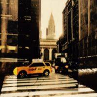 14.En taxi por New York 53.5x34 cm 800€