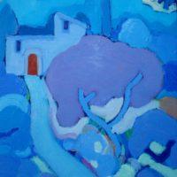 Camino azul (Mallorca) 46x38cm 2000