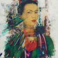 Marife Nunez-Imaginando a Frida Kahlo.125x150cm-tecnicamixta sobre fotografia- 6.500€