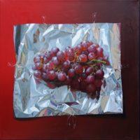 uvas rojas y aluminio 40x40