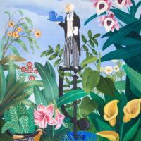 En el Botanico 73x60 Acrilico sobre lienzo 1600€