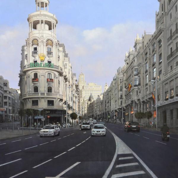 Gran Via, oleo sobre tela, 162 x 130 cm. 8700