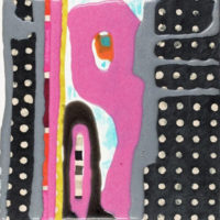 Capricho 5 20x20 cm. Collage, resina pigmentada y acrilico sobre madera 500