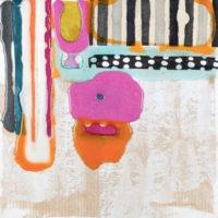Capricho4 20x20 cm. Collage, resina pigmentada y acrilico sobre madera 500
