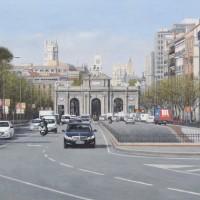 Puerta de alcala - oleo lienzo, 55 x 92 cm. 3300€
