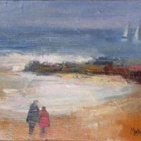 03 - Paseo en la playa - 27 x 22
