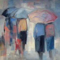 32 - Paraguas rosa - 92 x 92