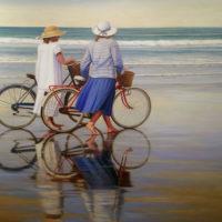 Bicicleta azul y rosa 120x150 12500
