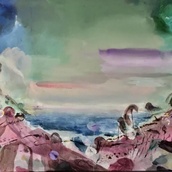 Paisaje de la isla Acrilico sobre lino 100x150 6000