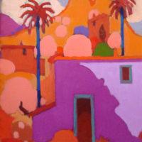 5-La casa violeta 55x46cm