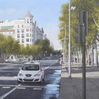 Calle de Serrano - oleo sobre lienzo - 54 x 73 cm 2.800€