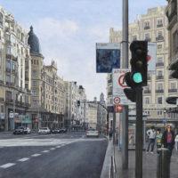 La Gran Via por la manana, oleo lienzo, 54 x 81 cm 3.000€