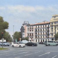 Plaza de Alonso Martinez - oleo sobre lienzo - 65 x 116 cm 4.000€