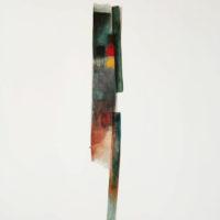 Modulacion tipografica en claroscuro 141.4cm x 101.7cm -mixta sobre lienzo - 3400 euros