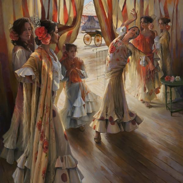 Bailando en la caseta 160x114 cm