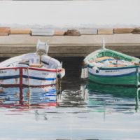 Barcas 70x50 cm acuarela sobre papel 1250