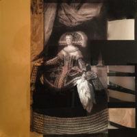 Mariana de Austria. Mixta sobre madera y metacrilato. 60x60 cm 1200