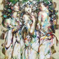 Chicas Mixta sobre lienzo. 100 x 81 cm
