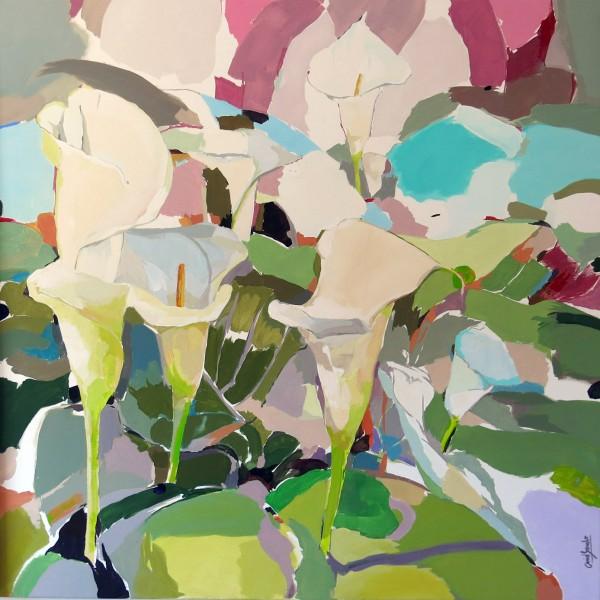 Diptico para una tarde nublada II. 100 x 100cm, acrilico lienzo 3325