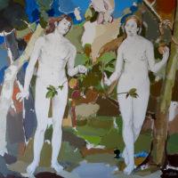 Homenaje a Durero, 100 x 100 cm, acrilico lienzo 3325