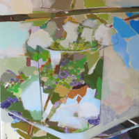 Ocres y Verdes. 64x 54cm.acrilico sobre lienzo 1500