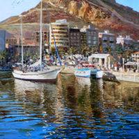 Reflejos en el puerto de Alicante ( 65 X 50 ) 3850