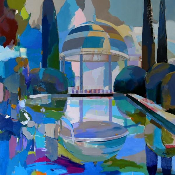 Templete de la concepcion, 100 x 100 cm, acrilico lienzo 3325