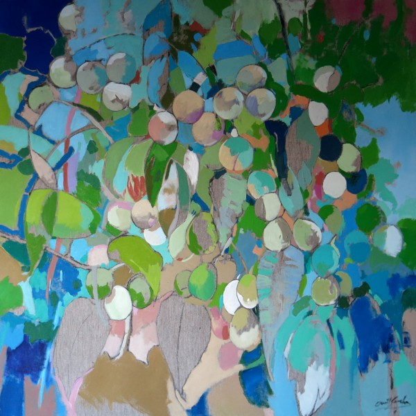 Tiempo de verano. 100x 100 cm, acrilico sobre lienzo 3325