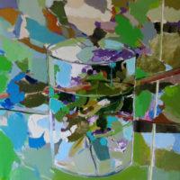 Verdes y Azules. 65 x54 cm, acrilico , lienzo 1500