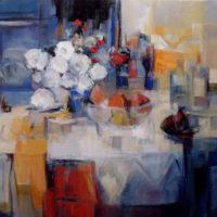 Mesa con flores y frutas 146 x 114 retocado