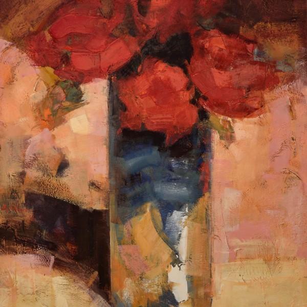 Cuatro rosas.146 x 114 cm. Oleo Lino. 2014.