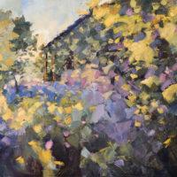 Jardin de Campillo.(3).89 x 146 cm. Oleo Lino. 2018.