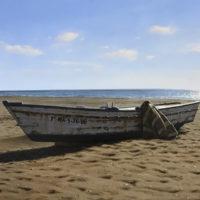 Barca de Benajarafe. 55x33cm 1800