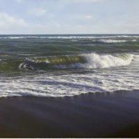 Mar revuelto. 81x38cm 2400