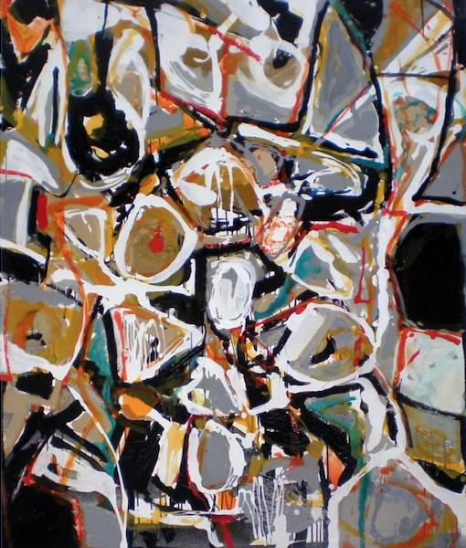 Abstraccion gestual V Mixta sobre tabla 150x120 4000