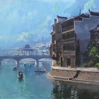Fenghuang y el rio Tuo mix tabla 60x150 2000