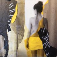 Blanca y el amarillo Mixta 30x30 490