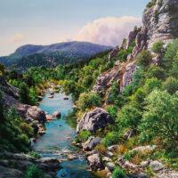 1.El rio Salazar. Navarra. o.s.t. 62x62 cm PVP 3.500€