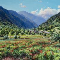 3. Primavera en Areu. Pirineo o.s.t. 46x65 cm PVP 2.400€