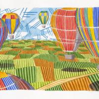globos-colores 70x100 acuarela 2060